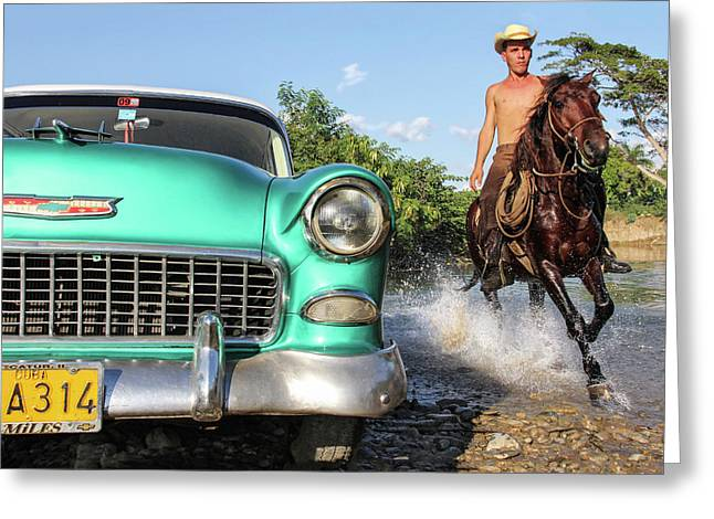Cuban Horsepower Greeting Card
