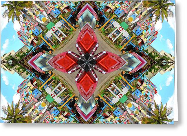 Cuban Kaleidoscope Greeting Card