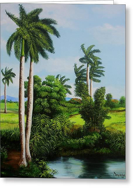 Cuban Landscape Greeting Card