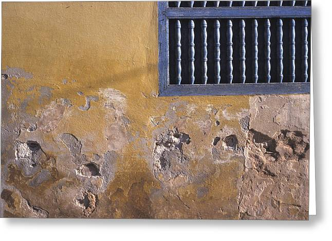 Cuban Wall And Window Greeting Card