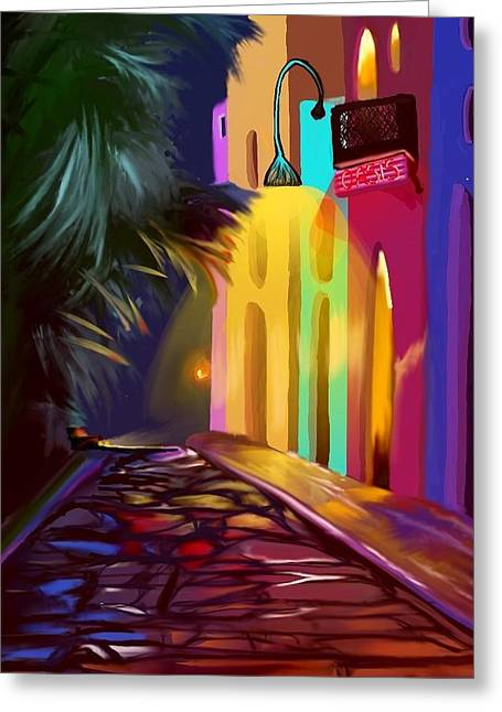 Cubano Street Greeting Card