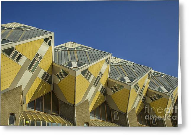 Cube Houses In Rotterdam Greeting Card by Patricia Hofmeester