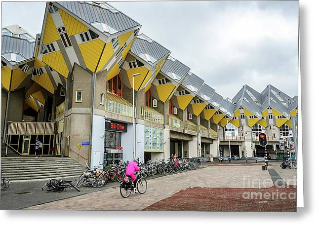 Greeting Card featuring the photograph Cube Houses In Rotterdam by RicardMN Photography