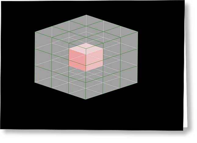 Cube Within A Cube Greeting Card