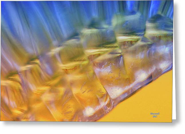 Cubes Of Light Greeting Card by Dennis Baswell