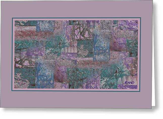 Cubic Vineyard Greeting Card by Jean Clarke