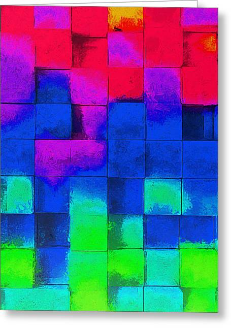 Cubism 4 - Da Greeting Card by Leonardo Digenio