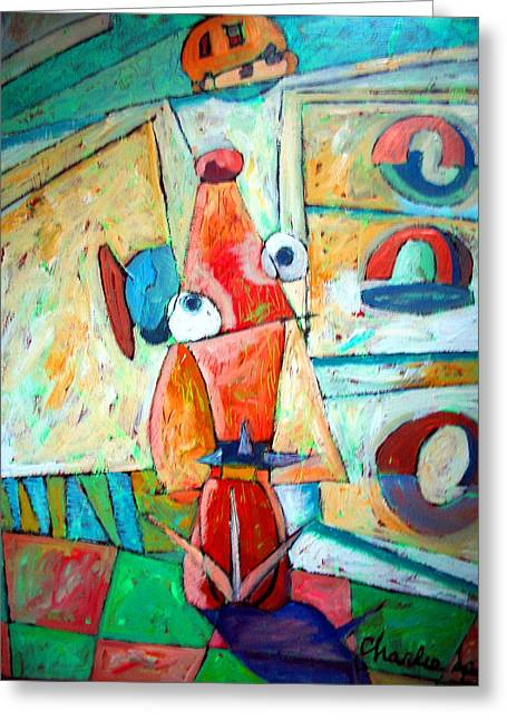 Cubist Cookie Greeting Card by Charlie Spear