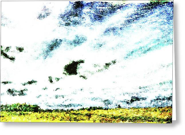 Lanscape Digital Greeting Cards - Cubist Field Greeting Card by Andrea Barbieri