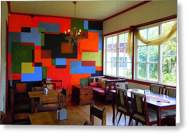 Cubist Mural At El Encanto Greeting Card by Scott K Wimer
