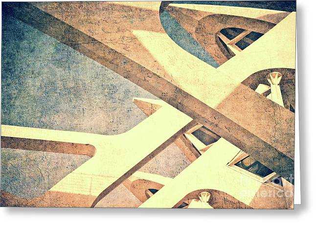 Cubist - Valencia Greeting Card by Mary Machare