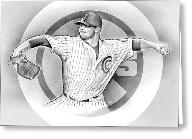 Cubs 2016 Greeting Card by Greg Joens