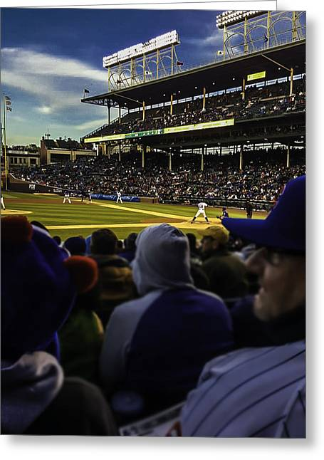 Cubs Game Greeting Card by Britten Adams
