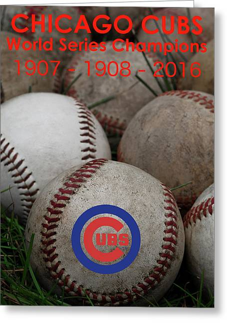 Cubs - World Series Champions Greeting Card by David Patterson
