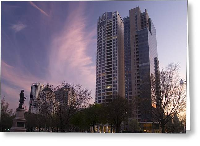 Cudahy Towers Greeting Card by Peter Skiba