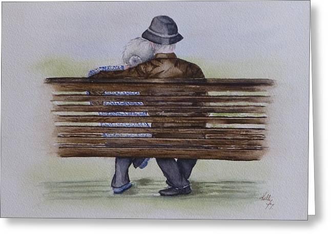 Cuddling Is Ageless Greeting Card