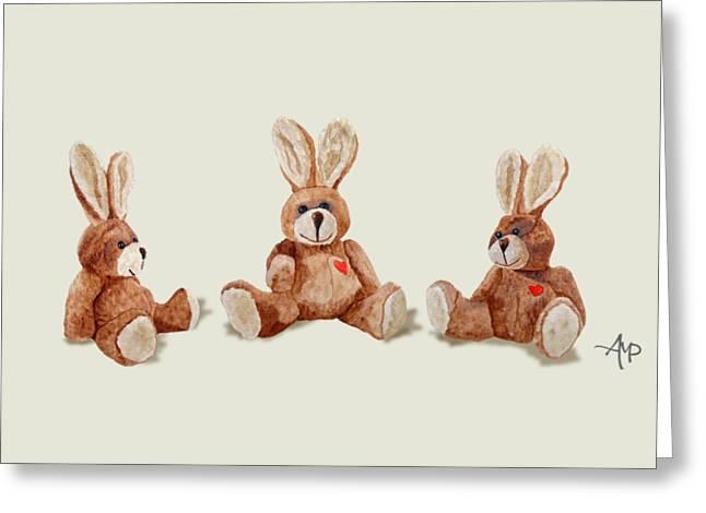 Cuddly Care Rabbit II Greeting Card