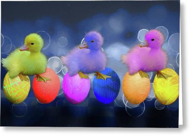 Cuddly Ducklings Greeting Card