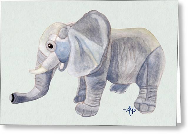 Cuddly Elephant II Greeting Card by Angeles M Pomata