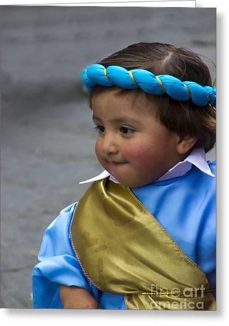 Cuenca Kids 740 Greeting Card by Al Bourassa