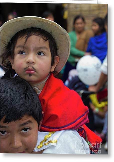 Cuenca Kids 758 Greeting Card by Al Bourassa
