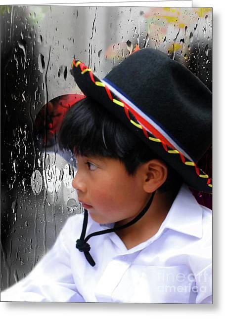 Cuenca Kids 880 Greeting Card by Al Bourassa