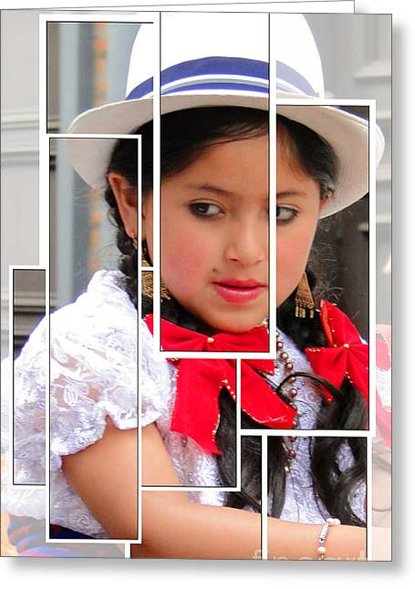 Greeting Card featuring the photograph Cuenca Kids 890 by Al Bourassa