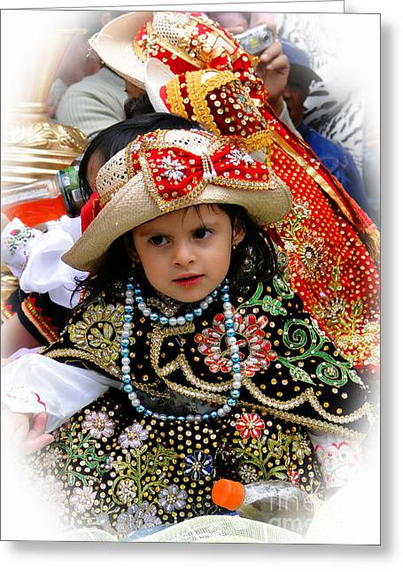 Greeting Card featuring the photograph Cuenca Kids 900 by Al Bourassa