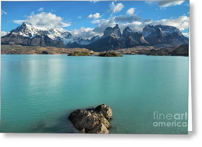 Cuernos Massif, Patagonia Greeting Card