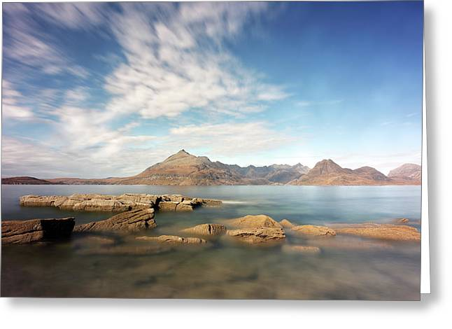 Greeting Card featuring the photograph Cuillin Mountain Range by Grant Glendinning