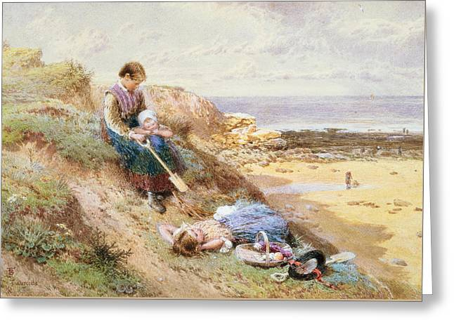 Cullercoats Greeting Card by Myles Birket Foster