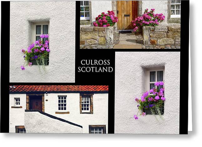 Culross Town Collage. Scotland Greeting Card
