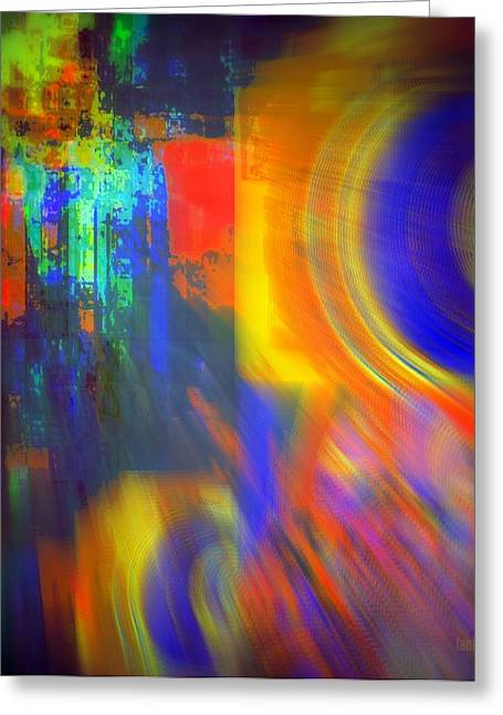 Cultural Exchange And Movement Greeting Card by Fania Simon