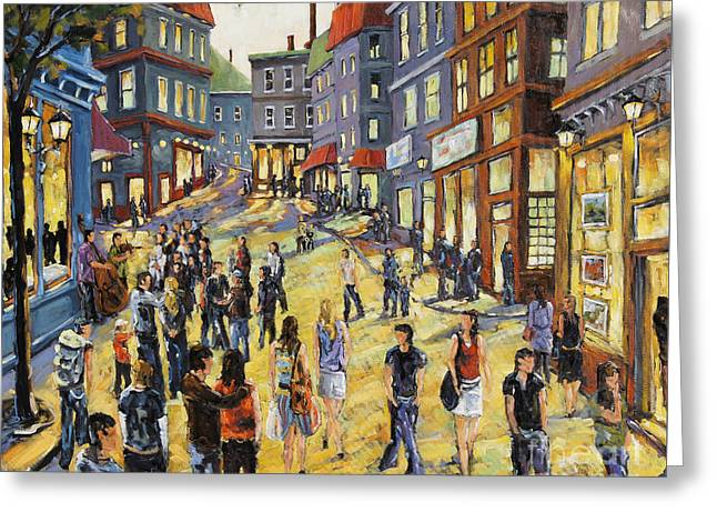Culture In The Street Greeting Card by Richard T Pranke