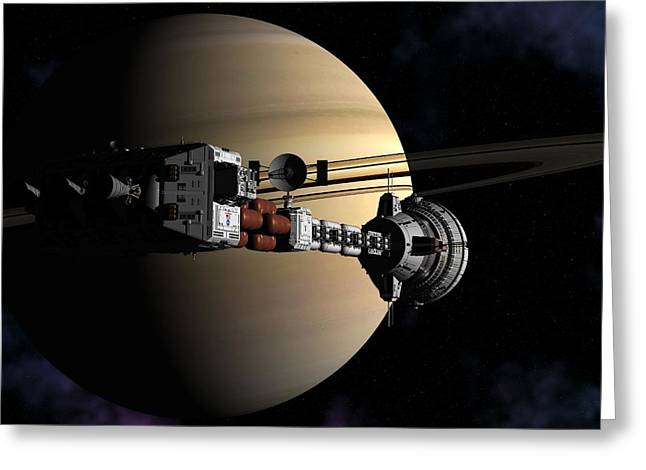 Cumberland At Saturn Part 2 Greeting Card