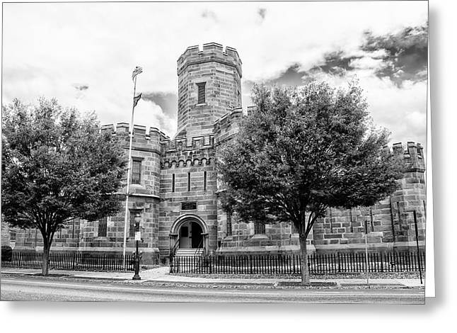 Cumberland County Prison In Black And White Greeting Card by Bill Cannon