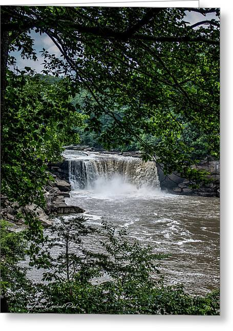 Greeting Card featuring the photograph Cumberland Falls by Joann Copeland-Paul