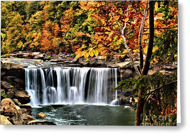Greeting Card featuring the photograph Cumberland Falls by Ken Frischkorn