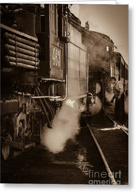Cumbres And Toltec Steam Train  Greeting Card by Scott and Amanda Anderson