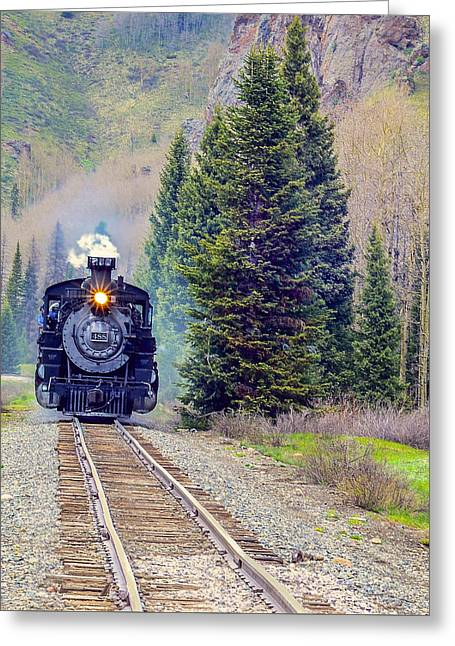Cumbres Toltec  Train Greeting Card by Larry Bodinson