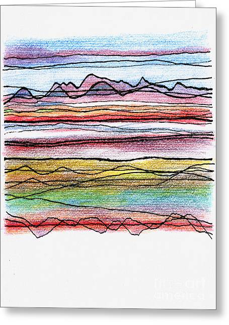 Cumbria Lines  Greeting Card by Andy  Mercer