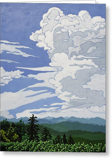 Greeting Card featuring the painting Cumulonimbus Afternoon by John Gibbs