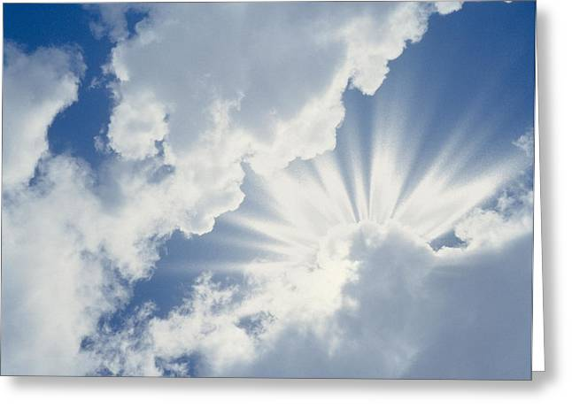 Cumulus Clouds In The Sky Greeting Card by Panoramic Images