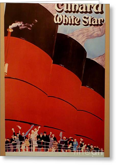 Cunard-white Star Ocean Liner Poster Greeting Card