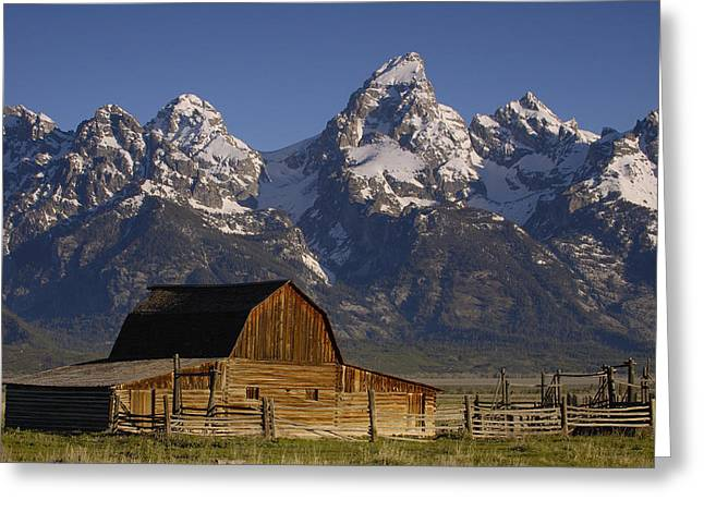 Mp Greeting Cards - Cunningham Cabin In Front Of Grand Greeting Card by Pete Oxford