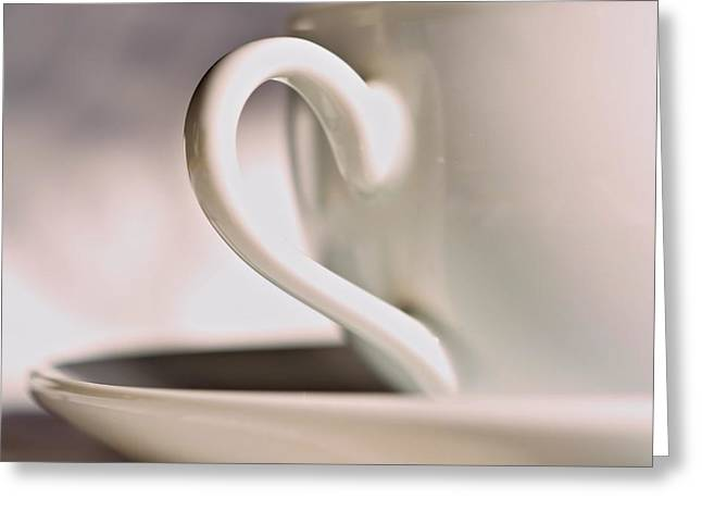 Cup And Saucer Greeting Card by Josephine Buschman