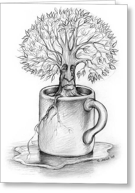 Cup-o-tree Greeting Card by Greg Joens
