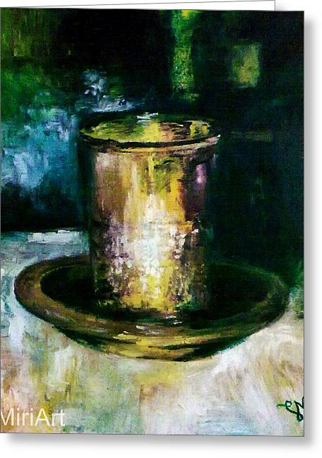 Cup Of Blessing Greeting Card by Miriam Shaw
