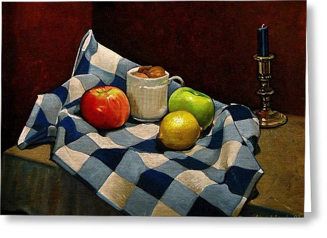 Cupboard Still Life Greeting Card by Doug Strickland