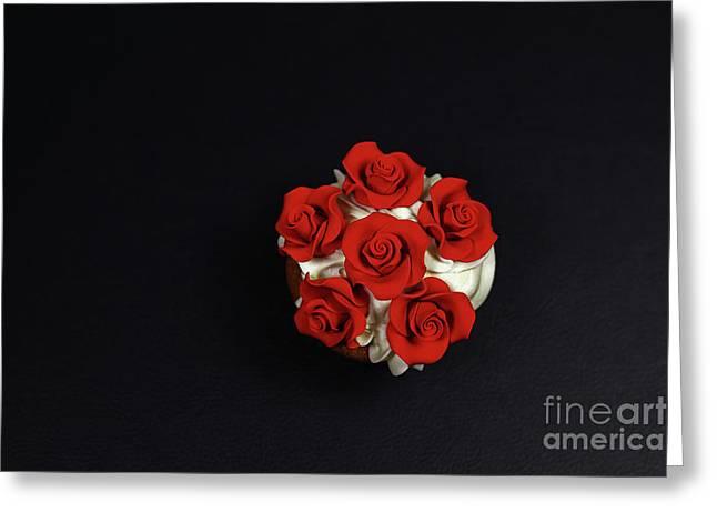 Cupcake Greeting Card by Afrodita Ellerman